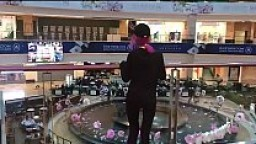 Hot Canadian teen takes deep blowjob in the Mall and cum in mouth