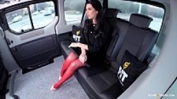 FUCKED IN TRAFFIC - Russian brunette babe Kira Queen gets banged in the car