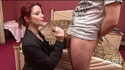 Gorgeous nice titted redhead french Julie Valmont banged and facialized