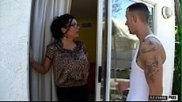Incredibly Hot MILF w/ Big Tits Sienna West Invites Neighborhood Boy In For Some Lemonade, Licks His Ass Then Bends Over