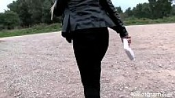 Milf Cindy Veron is a dogging cum slut sucking of older men in public