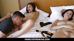Teen Stepsister And Brother Fuck In Front Of Drunk Sleeping Mom