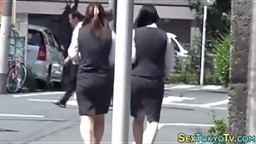 Hot japanese babes groped