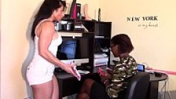 Black Beauty Fingered fucked by her boss (Alexis Rain) Interracial