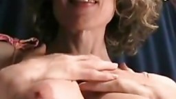 Hot Trixie cougar sucking tranny cock and swallow