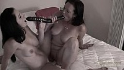 Double Dildo Fucking with College Coed Cleo