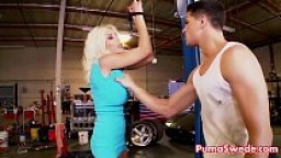 Euro Puma Swede Gets fucked Hard to fix her Car!