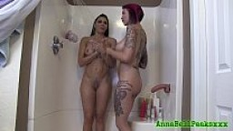 Anna Bell Peaks And Rachel Starr Sexy Shower